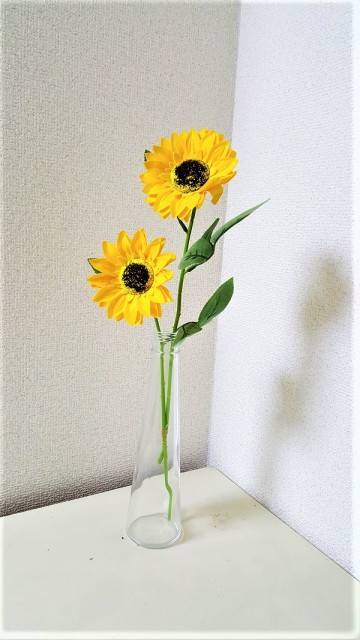 【ソープフラワー】【ひまわり】ひまわり2輪 【...
