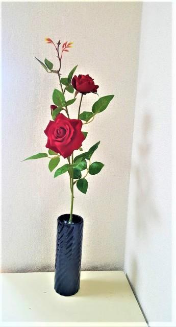 【造花薔薇】【最高級ベルベットローズ】【薔薇3...