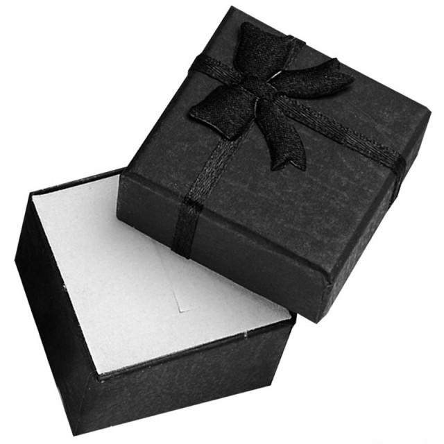 ブラックスモールリボンラッピングボックス(41mm...