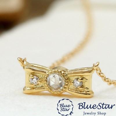 ローズカットダイヤモンド デザインネックレス リ...