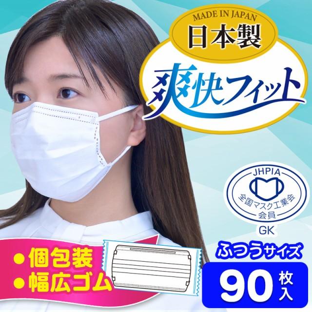マスク 日本製 使い捨て 不織布 個包装 ふつうサ...