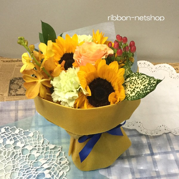 【送料無料】【生花・花束】そのまま飾れる!ひま...