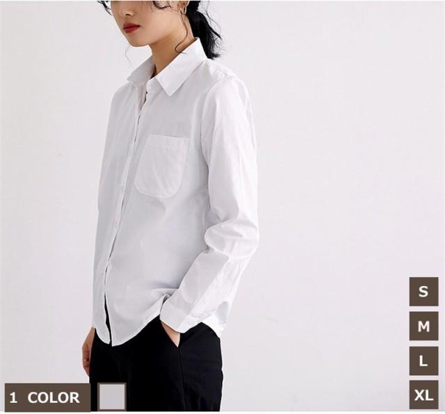 ワイシャツ 白シャツ トップス シャツ ブラウス ...