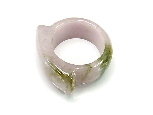 ラベンダーひすい指輪一点物ジェダイト天然石リン...