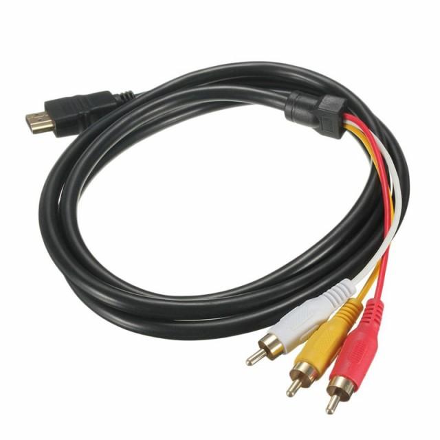 HDMI A/M TO 3RCA 変換ケーブル 金メッキ 高品質 ...