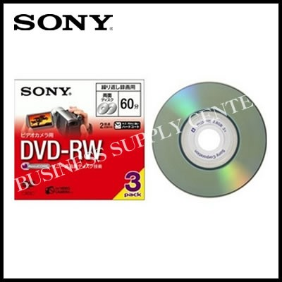 SONY テキ-3DMW60A 録画用DVD-RW 8cmDVDカメラ用 ...