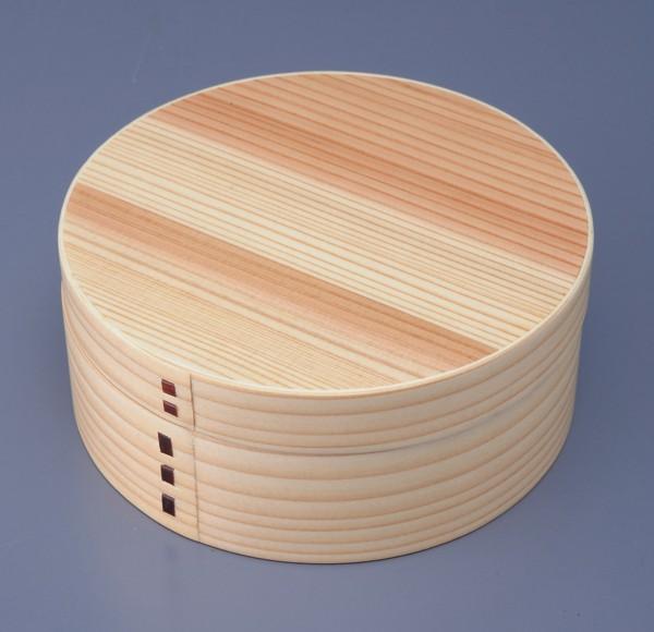 【木製漆器】木製曲げわっぱ一段弁当箱 丸 ナチュ...