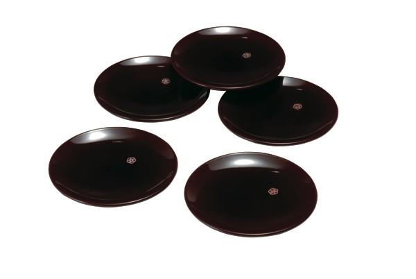 銘々皿 14cm 総溜 明月(5枚組)直径14cmの銘々皿...
