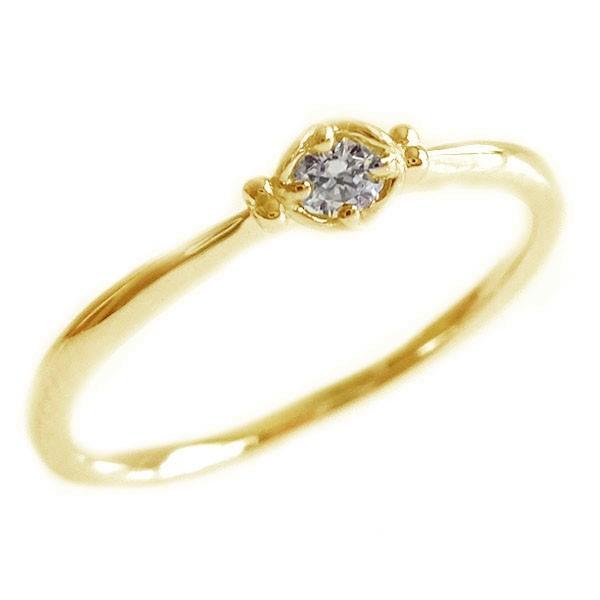 ダイヤモンド リング ゴールド K18 ダイヤ 0.05ct...