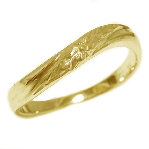 ハワイアンジュエリー リング ゴールドk18 指輪 K...