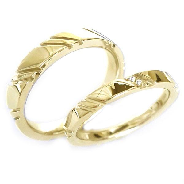 結婚指輪 マリッジリング ゴールドk18 ペアリング...