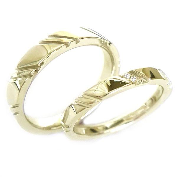 結婚指輪 マリッジリング ゴールドk10 ペアリング...