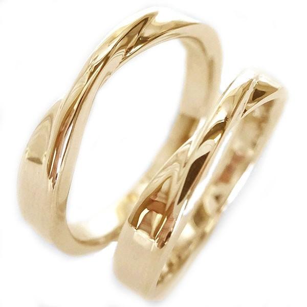結婚指輪 マリッジリング ピンクゴールドk10 ペア...