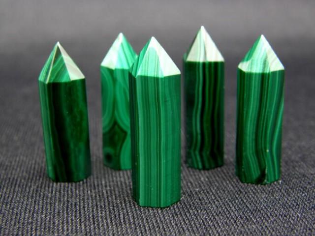 ポイント マラカイト 約30×10mm 1個売り 天然石 ...