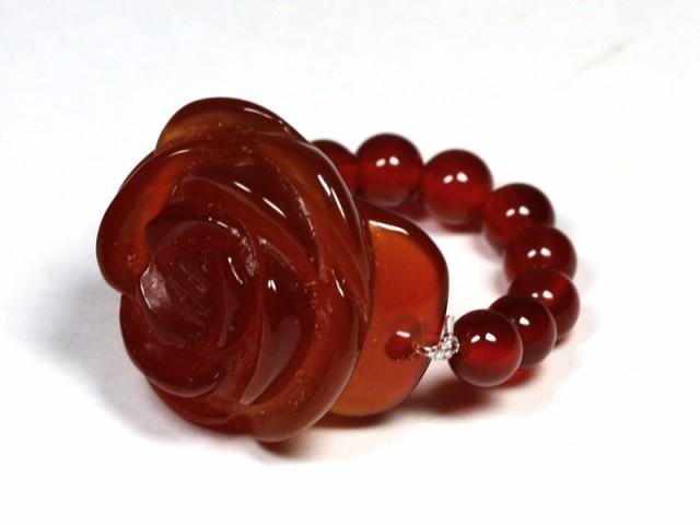 天然石 薔薇 レッドメノウ リング(指輪) パワー...
