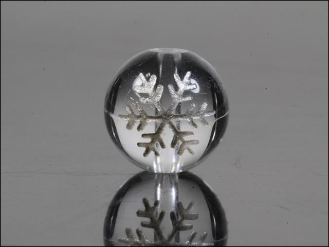 水晶 結晶 銀彫り 12mm 天然石 パワーストーン