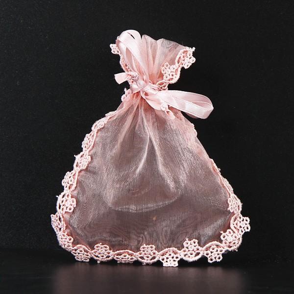 選べる3色 ラッピング袋 透ける花柄レース巾着袋 ...