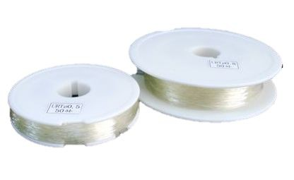 シリコンゴム糸 透明 0.7mm&1.0mm ブレスレット...
