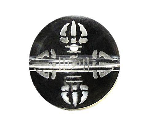 羯磨(かつま) 彫刻ビーズ 12mm 水晶 素彫り 手...
