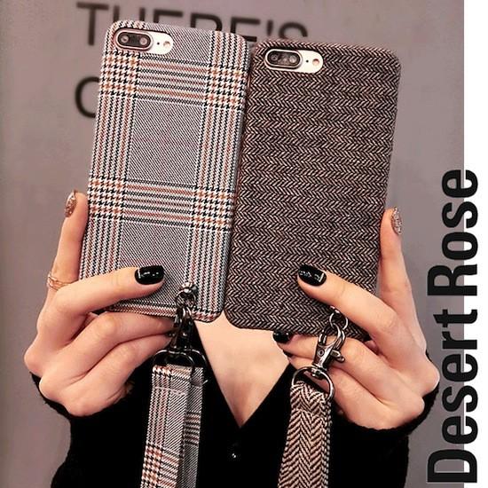 iPhoneケース グレンチェック ヘリンボーン iPhon...