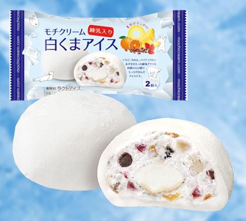 モチクリーム 白くまアイス 練乳入り【2個/24袋...