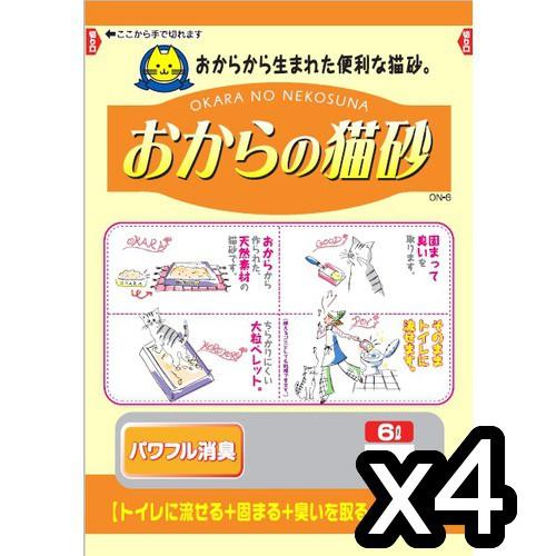 常陸化工 おからの猫砂6L×4袋【送料無料】