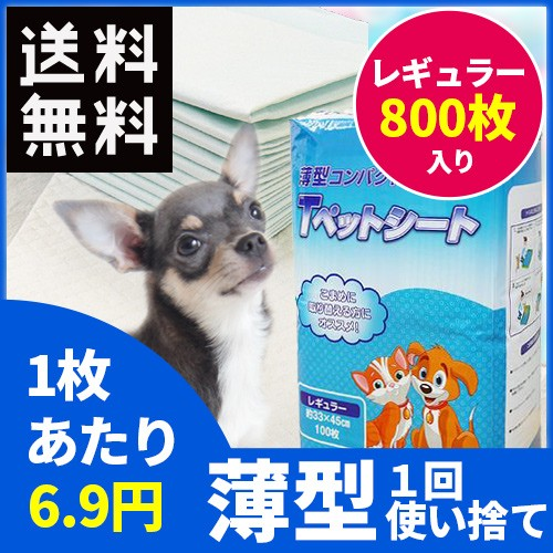 Tペットシート レギュラー800枚入【送料無料】