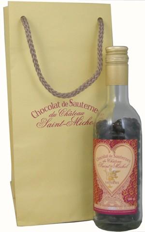 ショコラ・ド・ソーテルヌ(ボトル)ギフト紙袋つき【オシャレな瓶入りチョコレート】