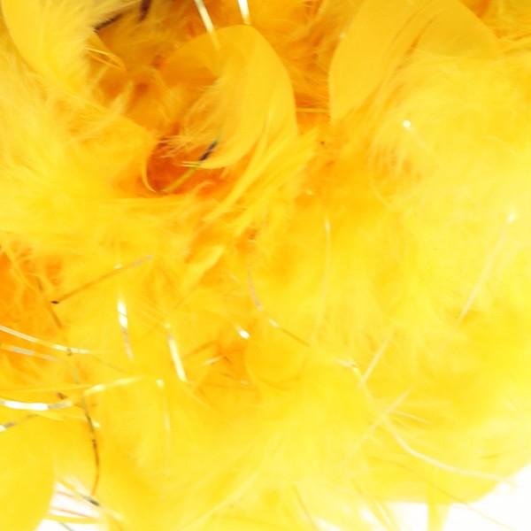 羽根 装飾 『シャンデリー ラメイエロー』