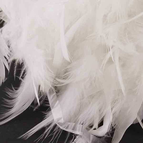 羽根 装飾 『シャンデリー シロ』