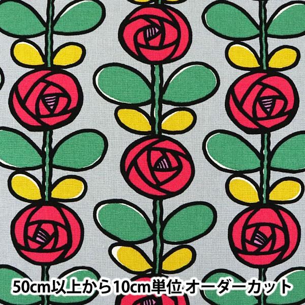 【数量5から】 生地 『10番キャンバス バラ UP569...