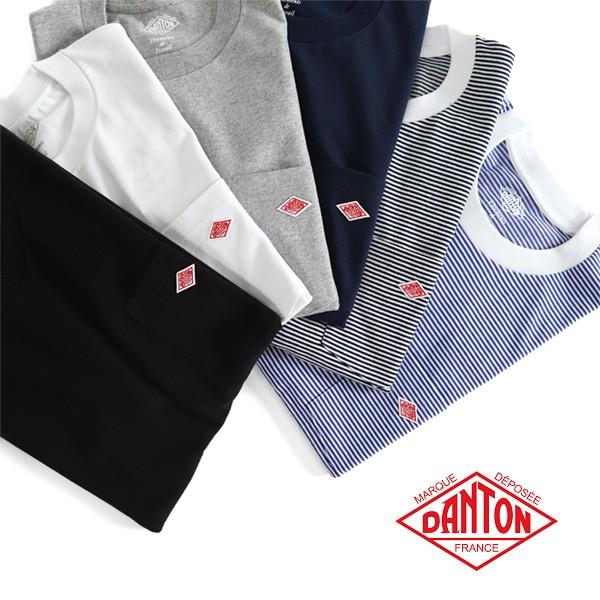 DANTON ダントン 胸ポケットTシャツ JD-9041 無地...