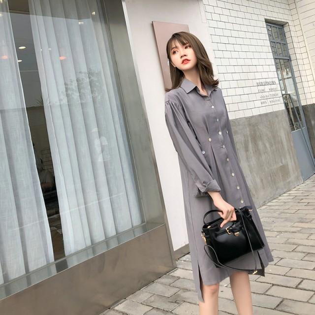 デザインシャツワンピースsin6600