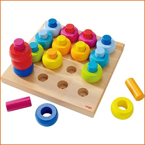 知育玩具 3歳 4歳 5歳 HABA カラーリングのペグ...
