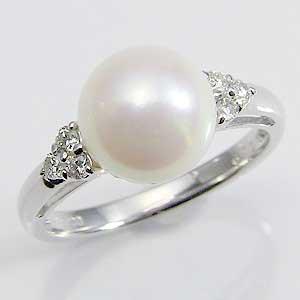 真珠 指輪 パール リング あこや本真珠 キュービ...