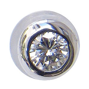 ダイヤモンド ピアス K18WG ホワイトゴールド 片...