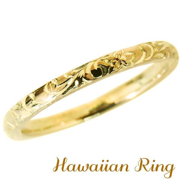 リング ハワイアンリング hawaiian ring 花と波レ...