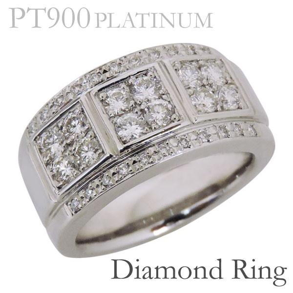 リング フラットバンド パヴェ ダイヤモンド PT90...