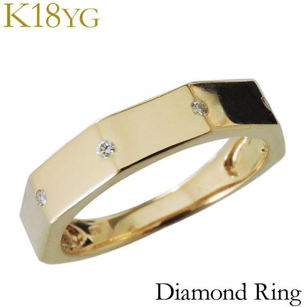 リング ダイヤモンド 4石 0.04ct K18イエローゴー...
