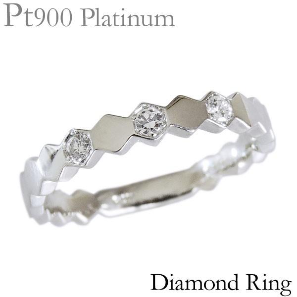 リング ダイヤモンド 3石 0.10ct PT900プラチナ ...