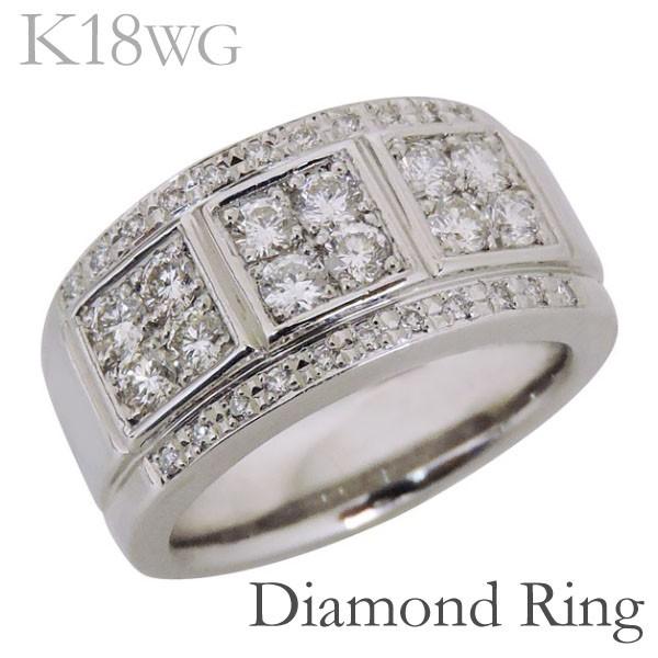リング フラットバンド パヴェ ダイヤモンド K18...