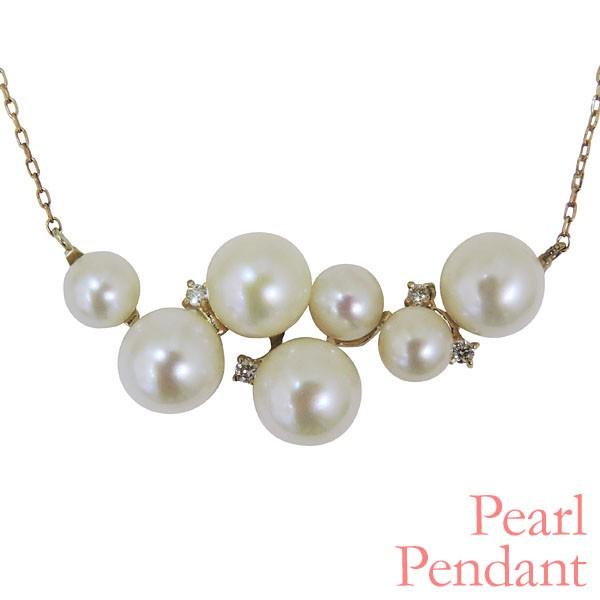 ペンダントネックレス 植物モチーフ 複数珠の可愛...