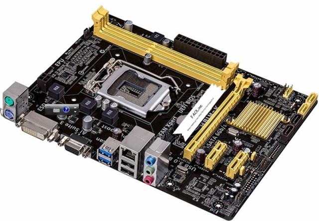 新品同様 Asus H81M-K LGA1150 VGA+DVI  DDR3 PC...