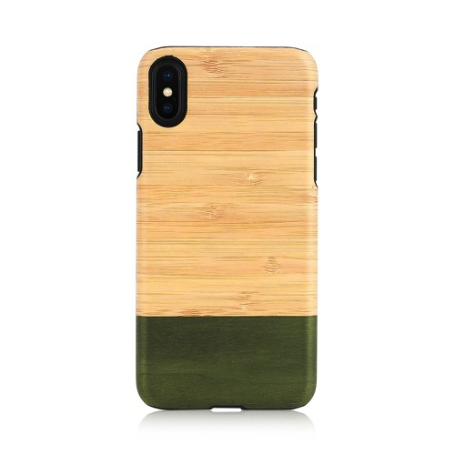 iPhone XS Max ケース天然木 Man&Wood Bamboo For...