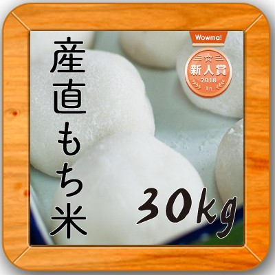 米 30kg 送料無料 もち米【産直もち米 白米30kg】...