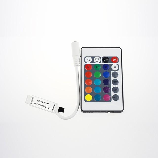 LEDテープ RGB専用 コントローラ リモコン 12V ...