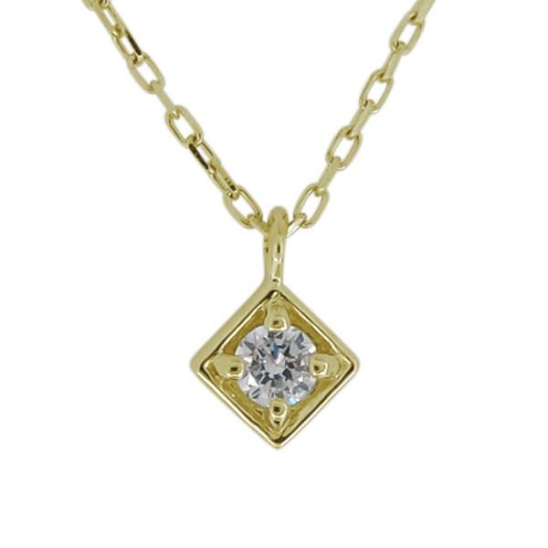 ネックレス レディース シンプル ダイヤモンド 一...