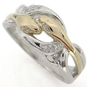 スネークリング・指輪・メンズ・10金・蛇・リング...