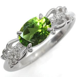 【送料無料】リング ペリドット プラチナ 指輪