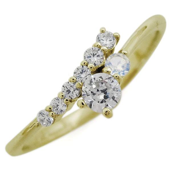 【送料無料】K18 シンプル リング ダイヤモンド ...